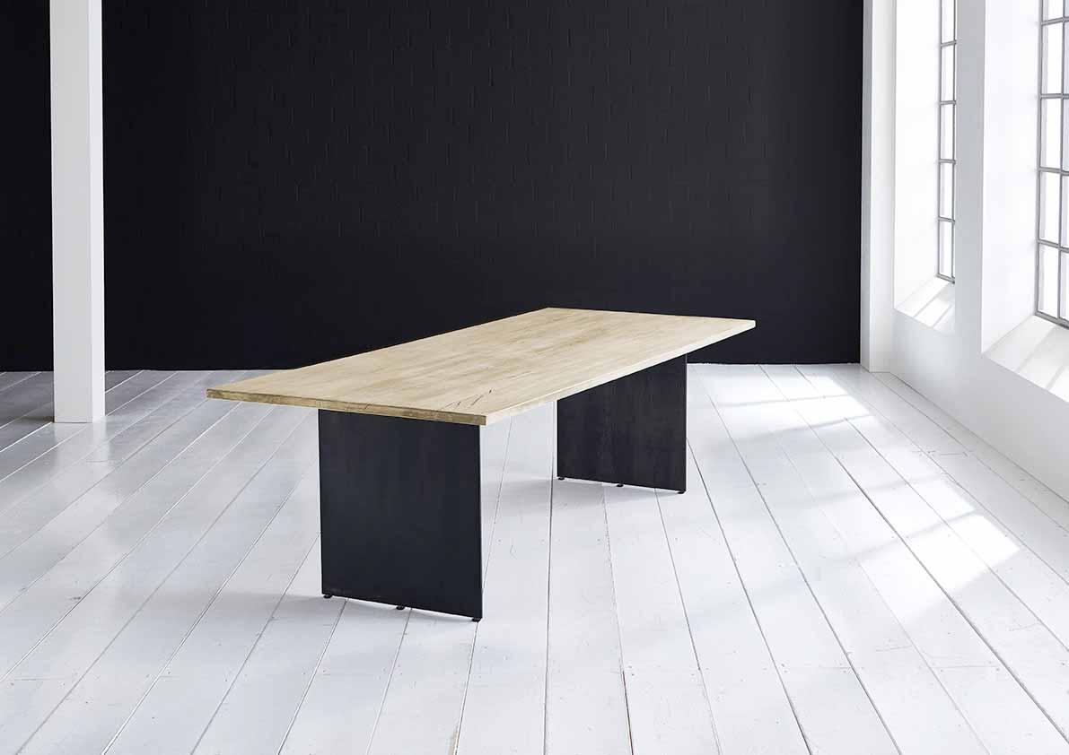 Concept 4 You plankebord - Lige kant med Line ben, m. udtræk 3 cm 220 x 100 cm 05 = sand