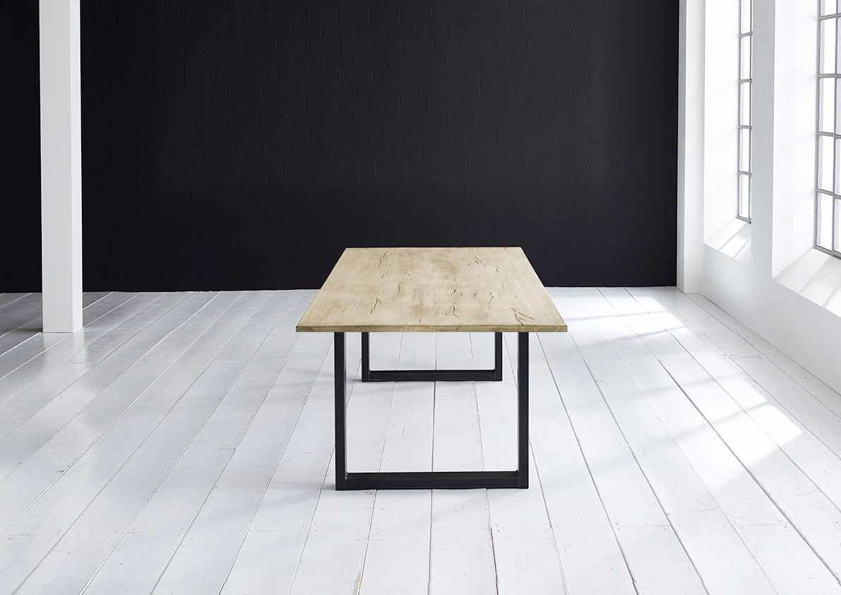 Concept 4 You plankebord - Lige kant Eg med U-ben 3 cm 180 x 100 cm 05 = sand