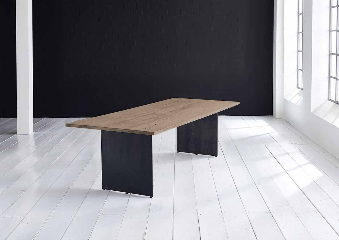 Concept 4 You plankebord - Lige kant med Line ben, m. udtræk 3 cm 220 x 100 cm 02 = smoked
