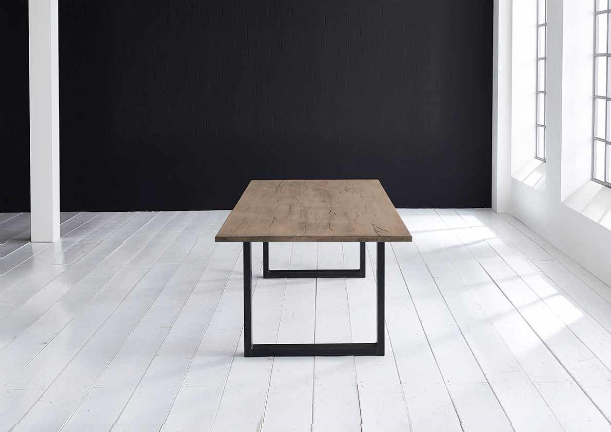 Concept 4 You plankebord - Lige kant Eg med U-ben 3 cm 180 x 100 cm 02 = smoked