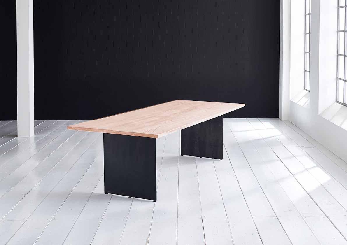 bodahl Concept 4 you plankebord - lige kant med line ben, m. udtræk 3 cm 180 x 100 cm 03 = white wash fra boboonline.dk