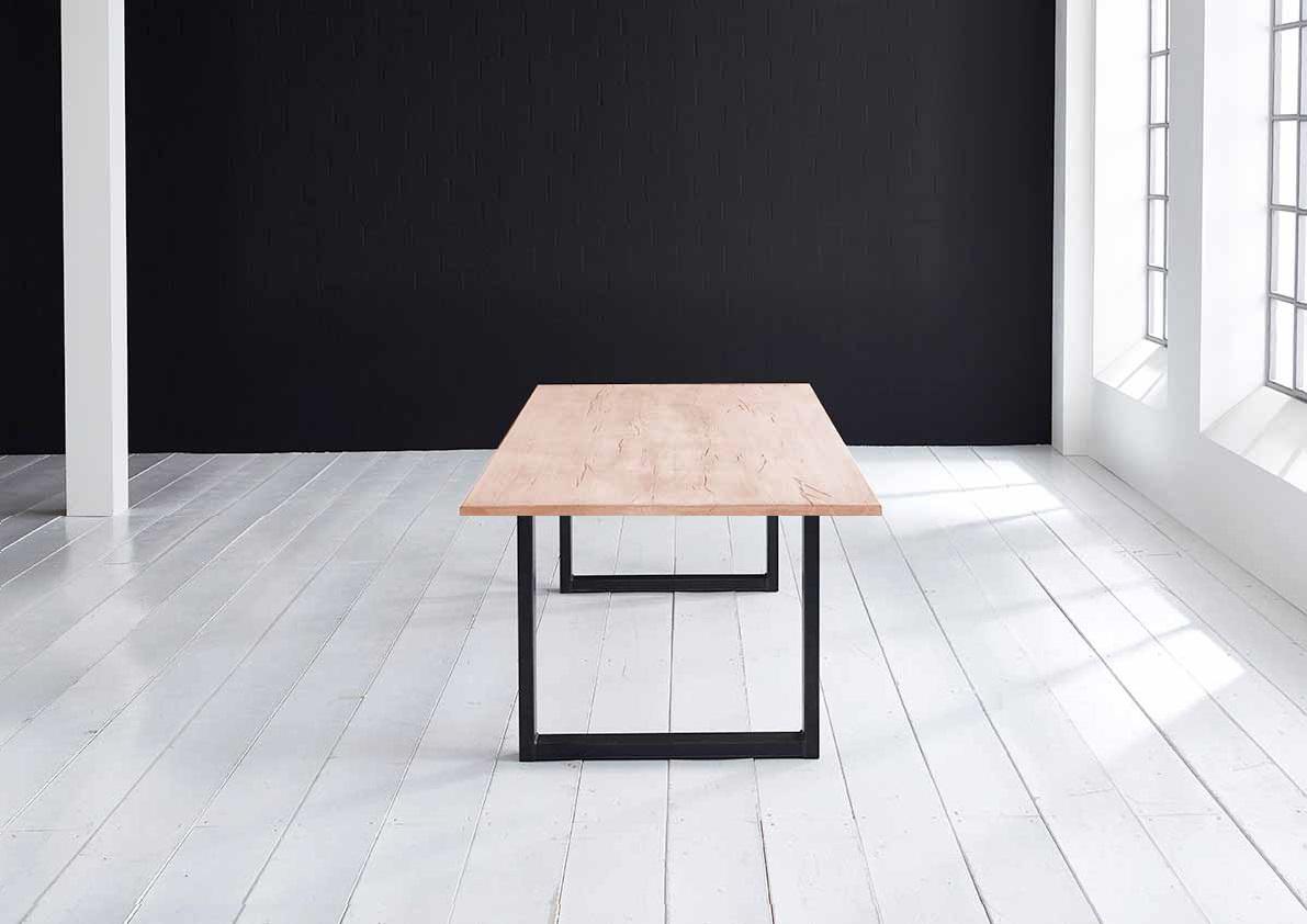 Concept 4 You plankebord - Lige kant Eg med U-ben 3 cm 180 x 100 cm 03 = white wash