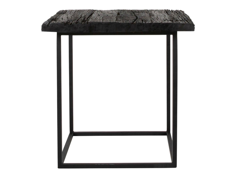 canett – Canett hayes sidebord - sort genbrugstræ og sort jern, kvadratisk (50x50) på boboonline.dk
