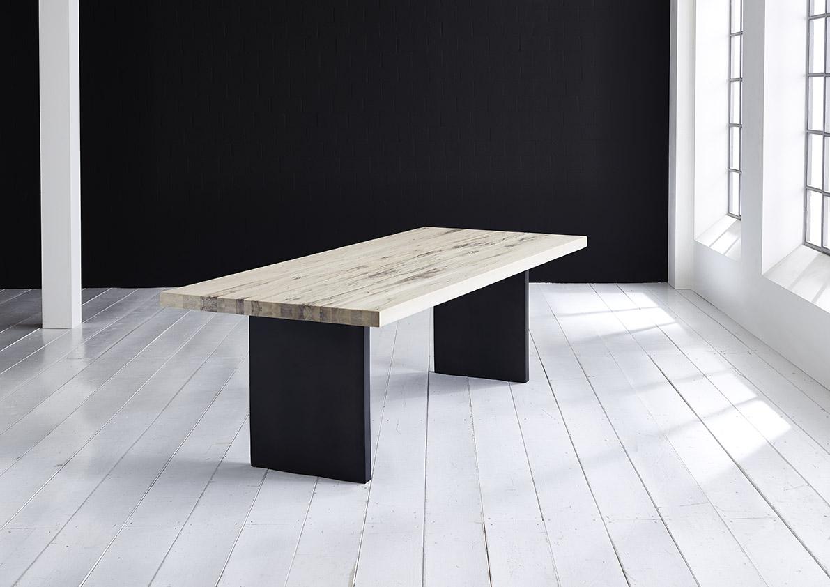 Concept 4 You Plankebord - eg m. lige kant og T-ben, m. udtræk (180-260x100-110) 6 cm 280 x 110 cm 03 = white wash