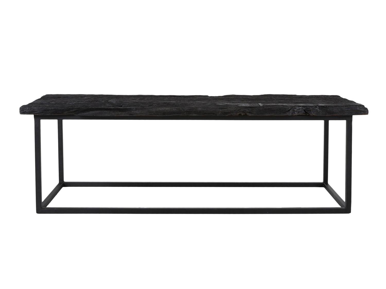 canett – Canett hayes bænk - sort genbrugstræ og sort jern (130x45) på boboonline.dk