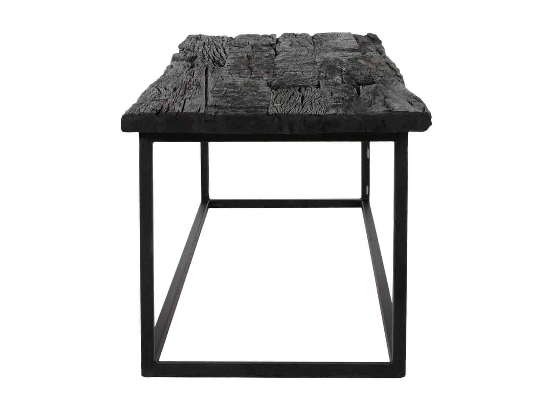 canett Canett hayes sofabord - massivt sort genbrugstræ og sort jern (150x90) fra boboonline.dk