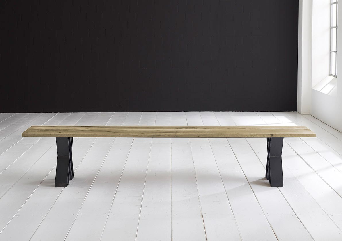 Concept 4 You Spisebordsbænk - X-ben 240 x 40 cm 3 cm 05 = sand