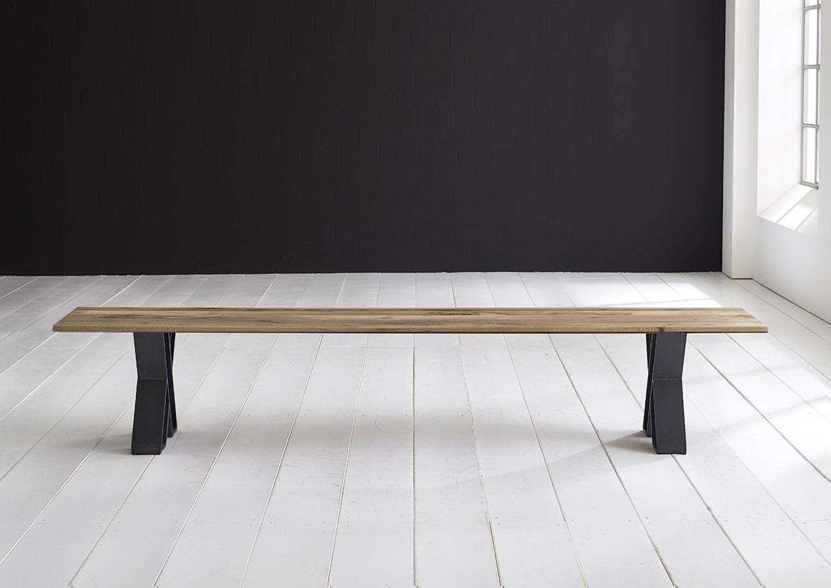 bodahl – Concept 4 you spisebordsbænk - x-ben 180 x 40 cm 3 cm 04 = desert på boboonline.dk