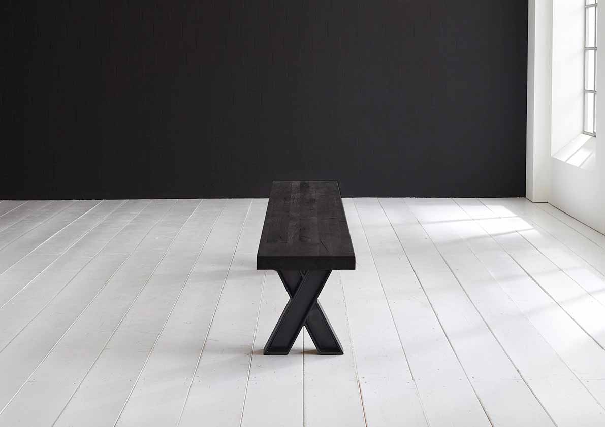 Concept 4 You Spisebordsbænk - X-ben 260 x 40 cm 6 cm 07 = mocca black