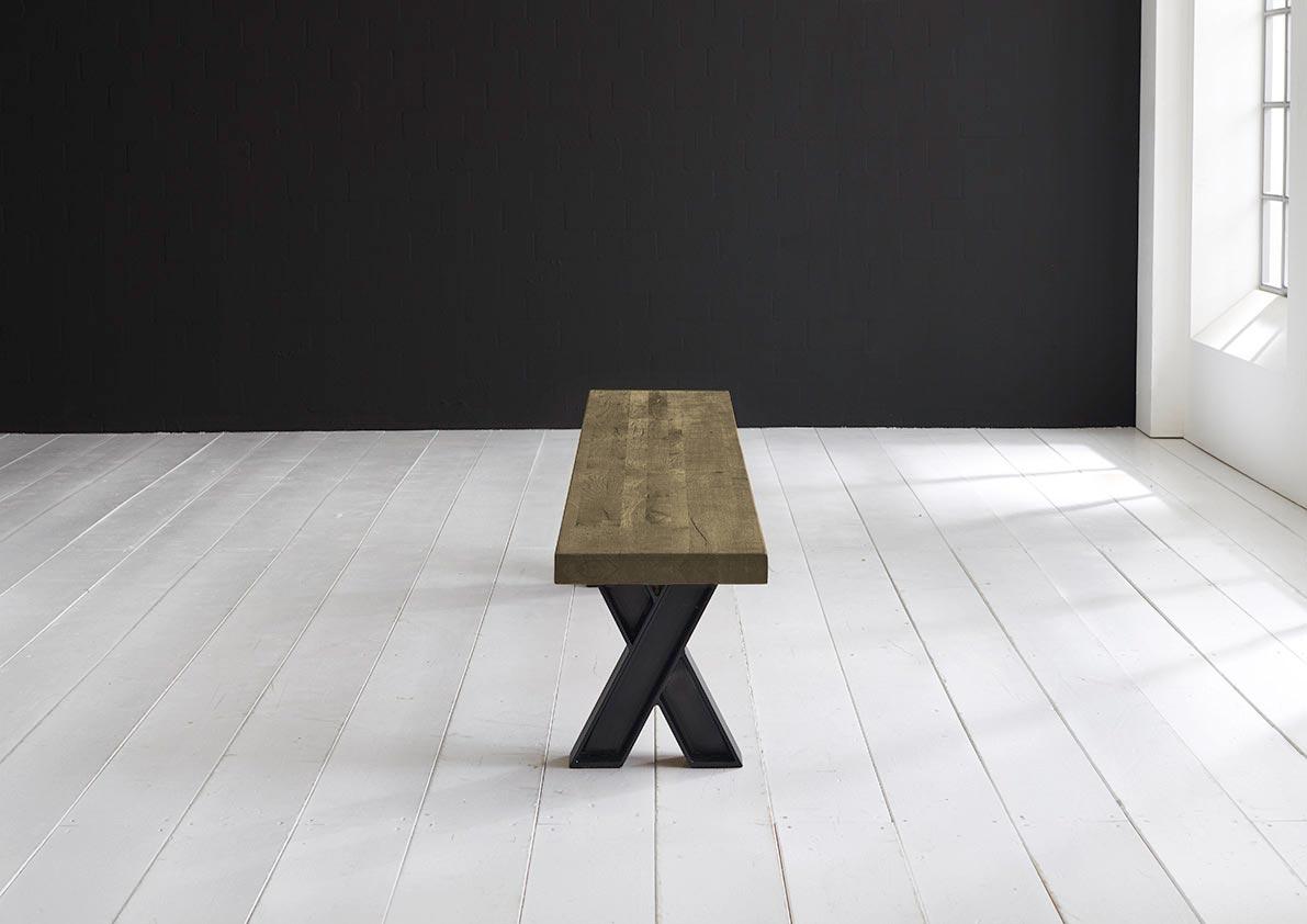 Concept 4 You Spisebordsbænk - X-ben 200 x 40 cm 6 cm 05 = sand