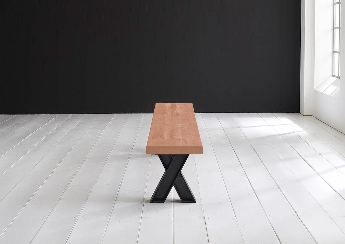 Concept 4 You Spisebordsbænk - X-ben 300 x 40 cm 6 cm 03 = white wash