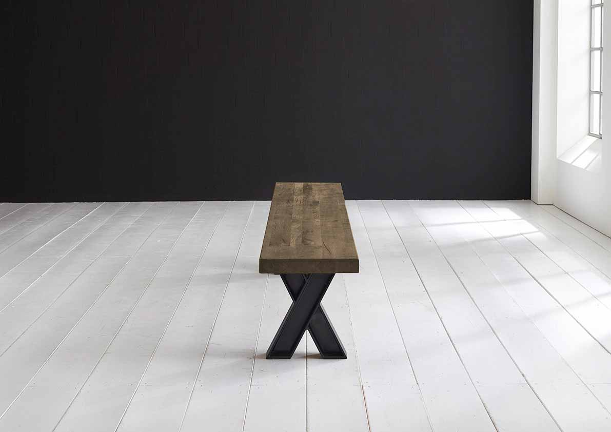 Concept 4 You Spisebordsbænk - X-ben 300 x 40 cm 6 cm 04 = desert