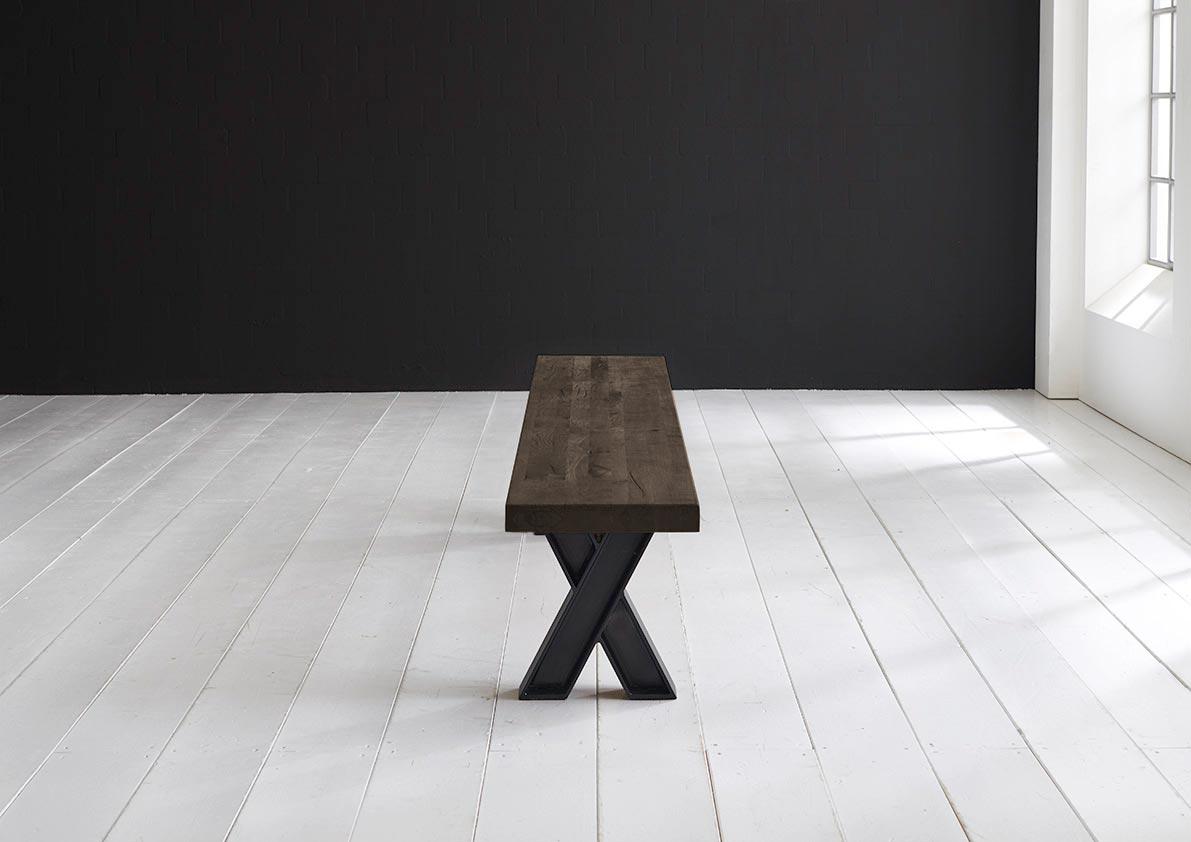 bodahl – Concept 4 you spisebordsbænk - x-ben 220 x 40 cm 6 cm 02 = smoked fra boboonline.dk