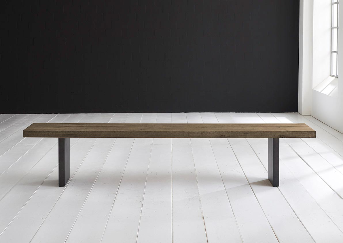 Concept 4 You Spisebordsbænk - T-Ben 220 x 40 cm 6 cm 04 = desert