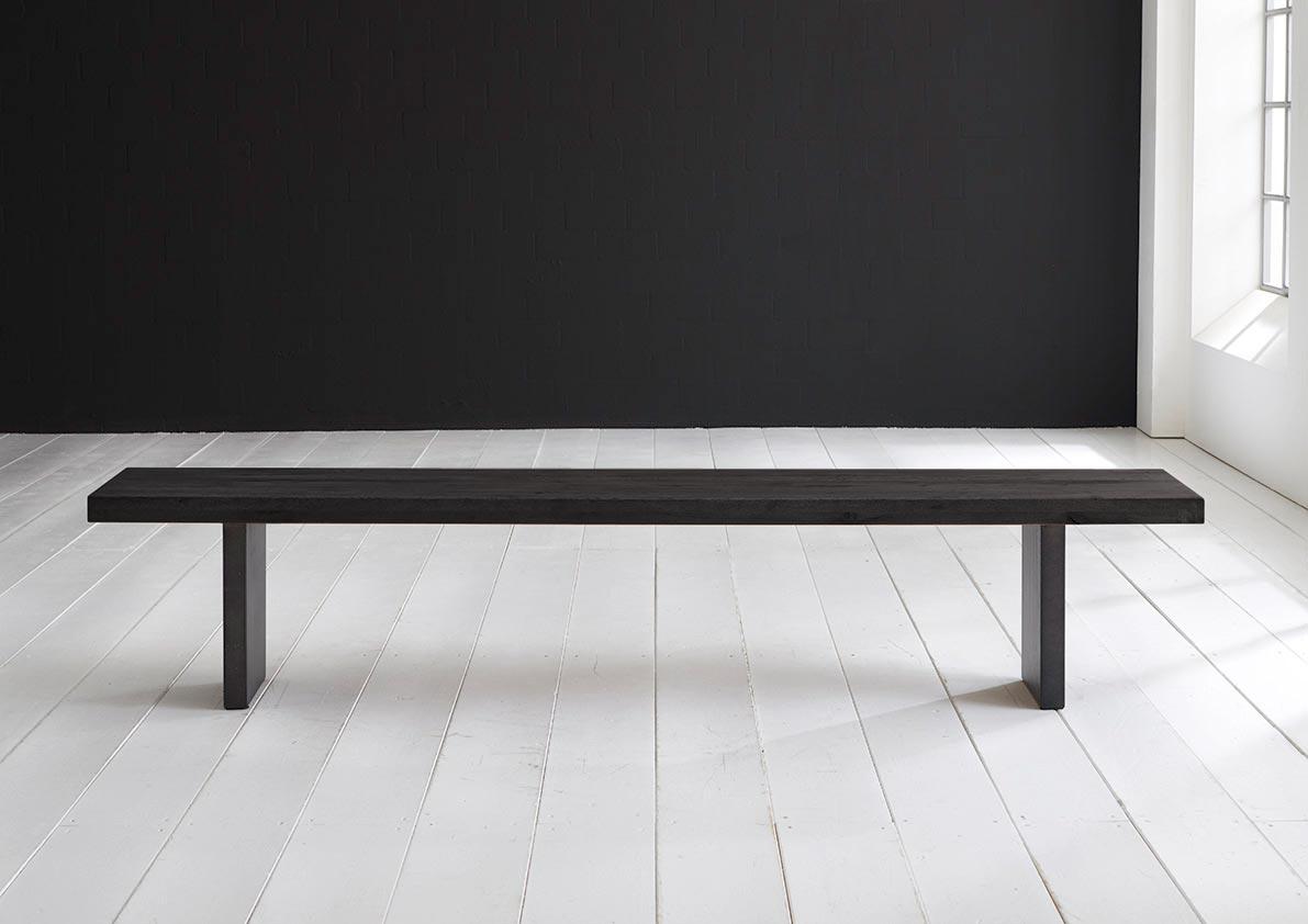 Concept 4 You Spisebordsbænk - T-Ben 220 x 40 cm 6 cm 07 = mocca black