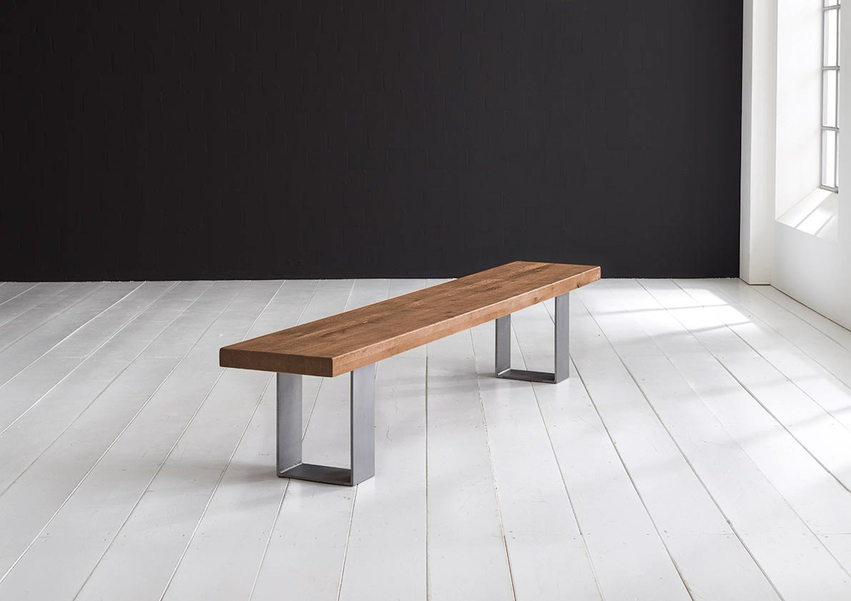 Concept 4 You Spisebordsbænk - Houston ben 260 x 40 cm 6 cm 01 = olie