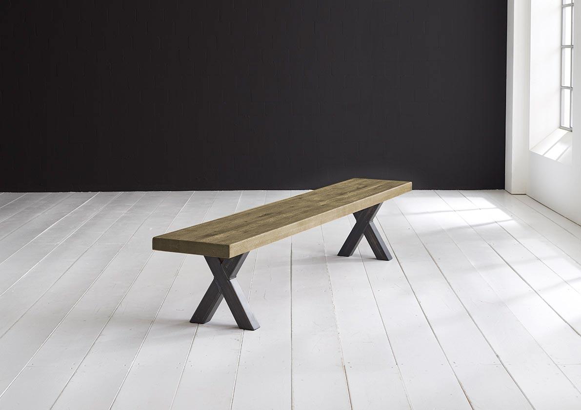 Concept 4 You Spisebordsbænk - Freja ben 200 x 40 cm 6 cm 05 = sand
