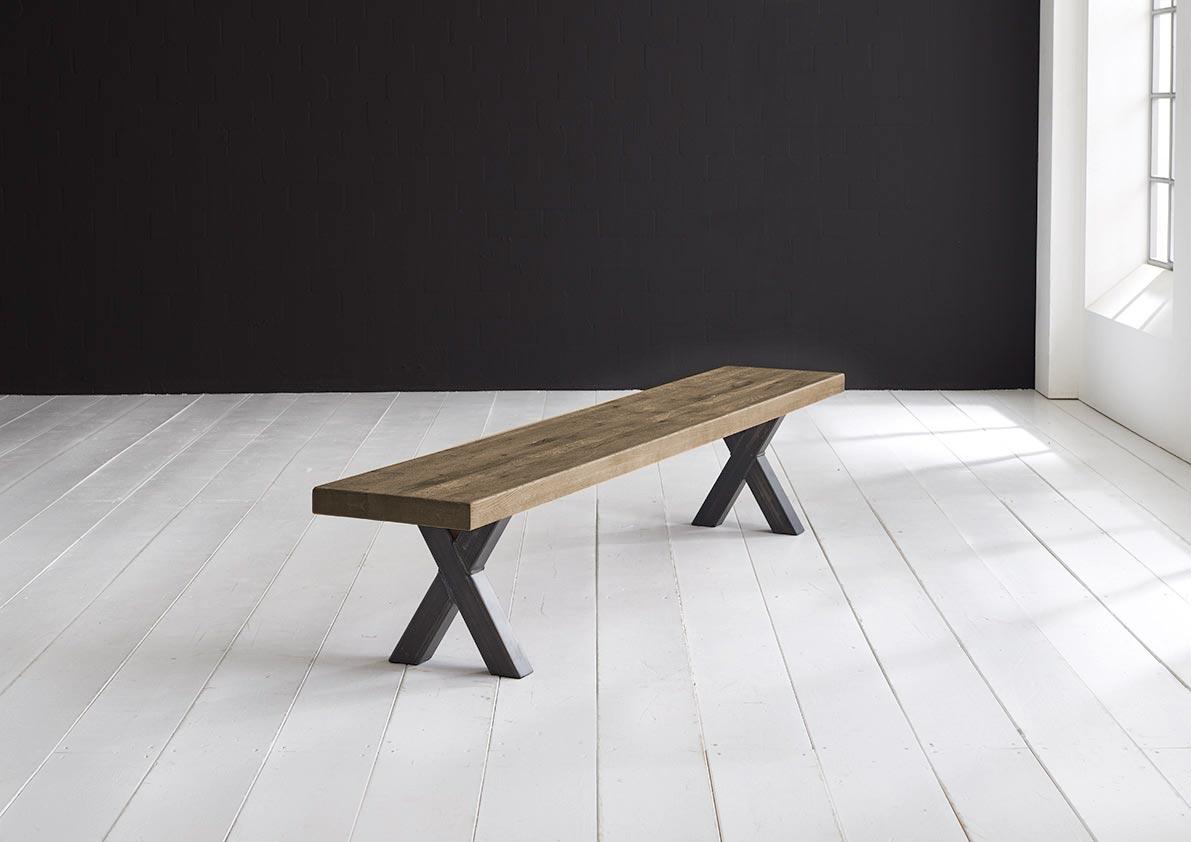 bodahl – Bodahl concept 4 you spisebordsbænk - massiv egetræ m. freja ben 300 x 40 cm 6 cm 04 = desert fra boboonline.dk