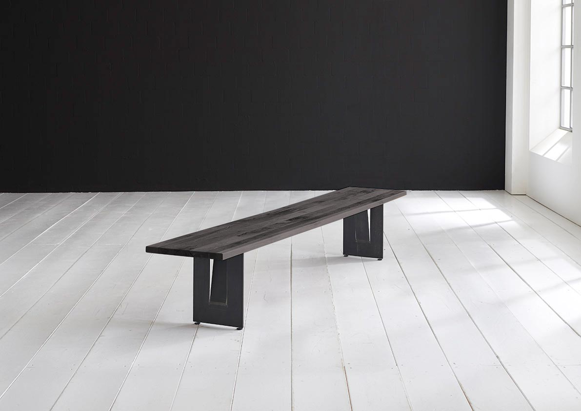 concept 4 you spisebordsbænk - steven ben 240 x 40 cm 3 cm 07 = mocca black fra bodahl