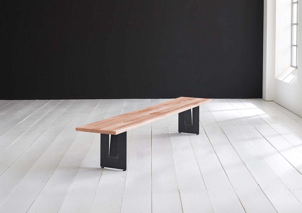 Concept 4 You Spisebordsbænk - Steven Ben 260 x 40 cm 3 cm 03 = white wash