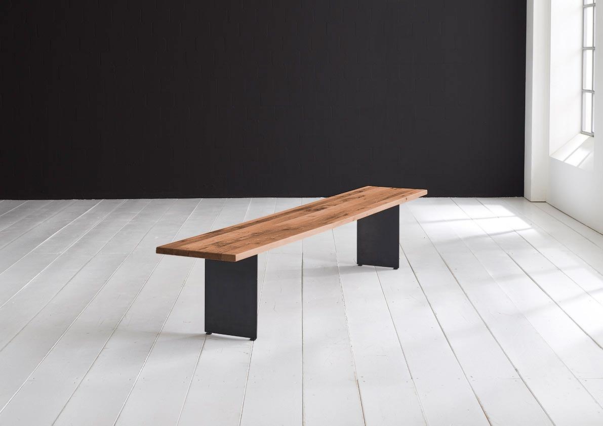 bodahl Bodahl concept 4 you spisebordsbænk - massiv egetræ m. line ben 260 x 40 cm 3 cm 06 = old bassano fra boboonline.dk