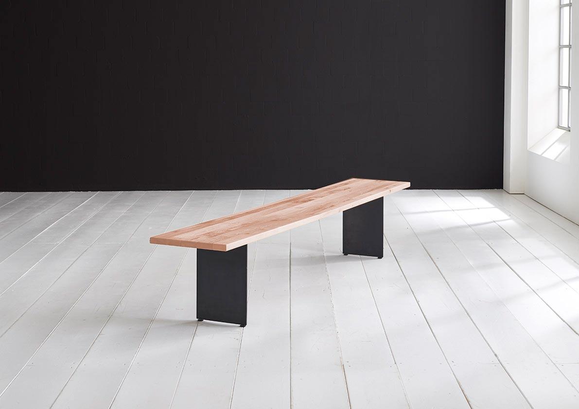 Concept 4 You Spisebordsbænk - Line Ben 240 x 40 cm 3 cm 03 = white wash