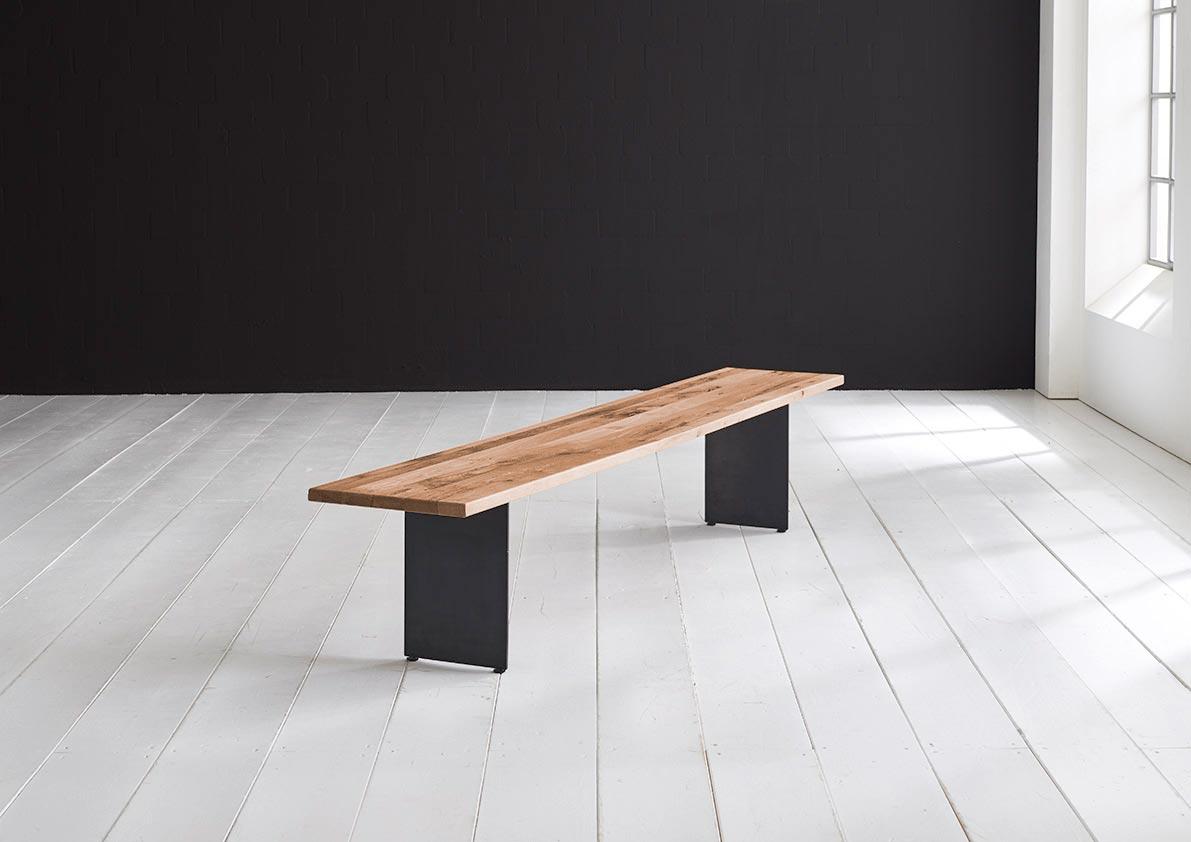 bodahl bodahl concept 4 you spisebordsbænk - massiv egetræ m. line ben 240 x 40 cm 3 cm 01 = olie