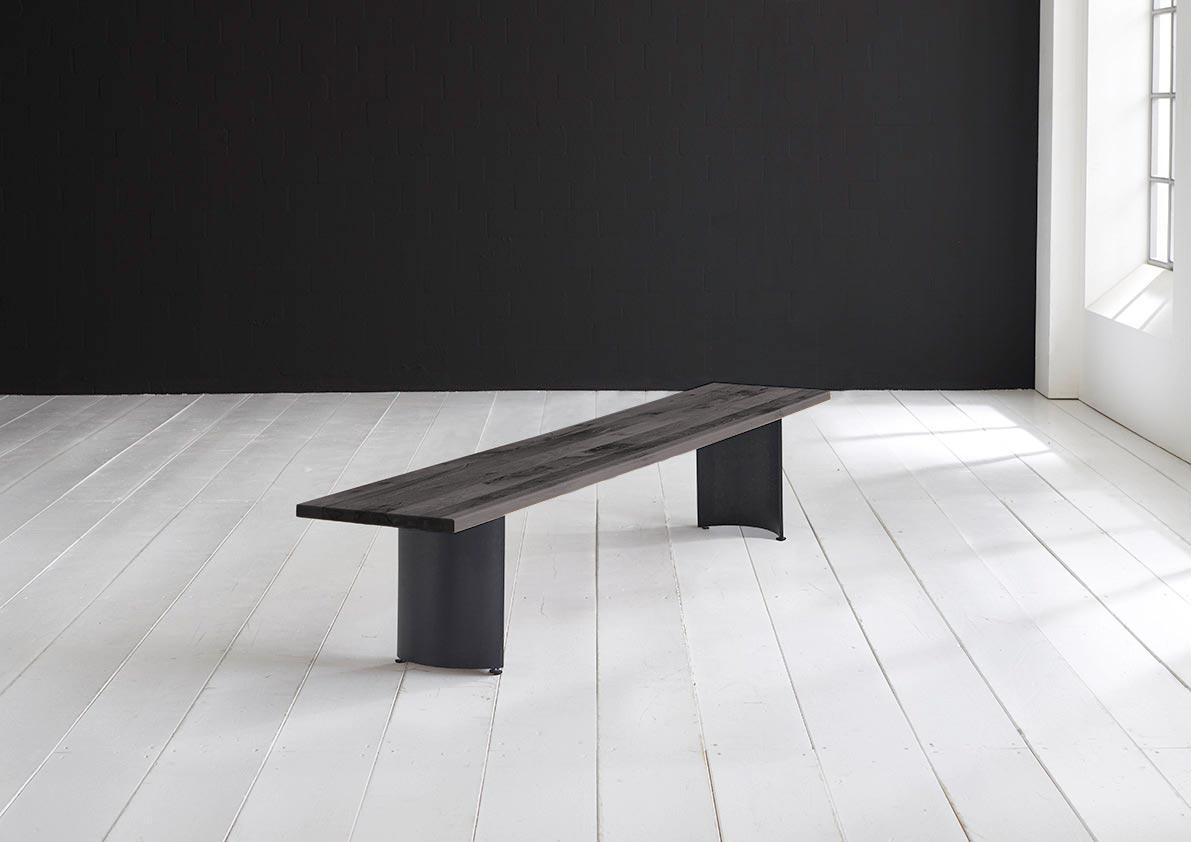 Bodahl concept 4 you spisebordsbænk - massiv egetræ m. arc ben 200 x 40 cm 3 cm 07 = mocca black fra bodahl fra boboonline.dk