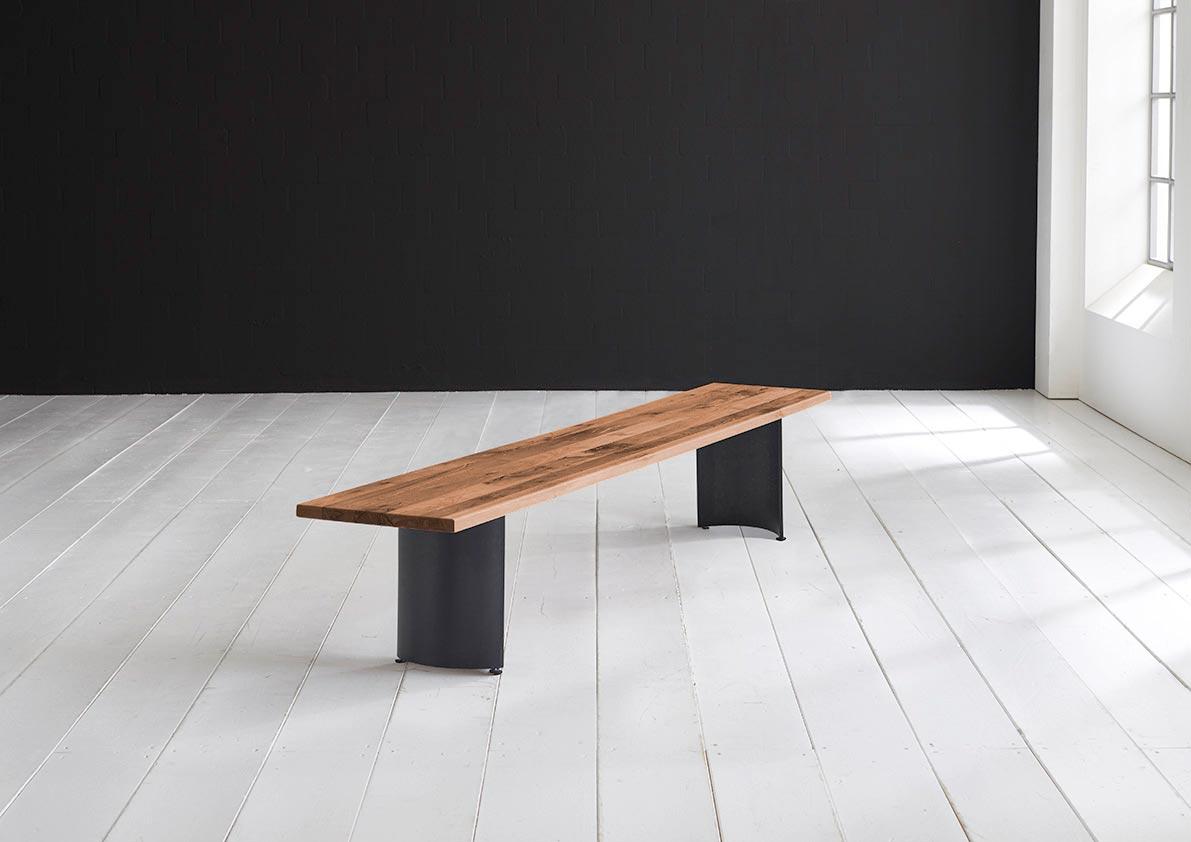 concept 4 you spisebordsbænk - arc-ben 220 x 40 cm 3 cm 06 = old bassano fra bodahl