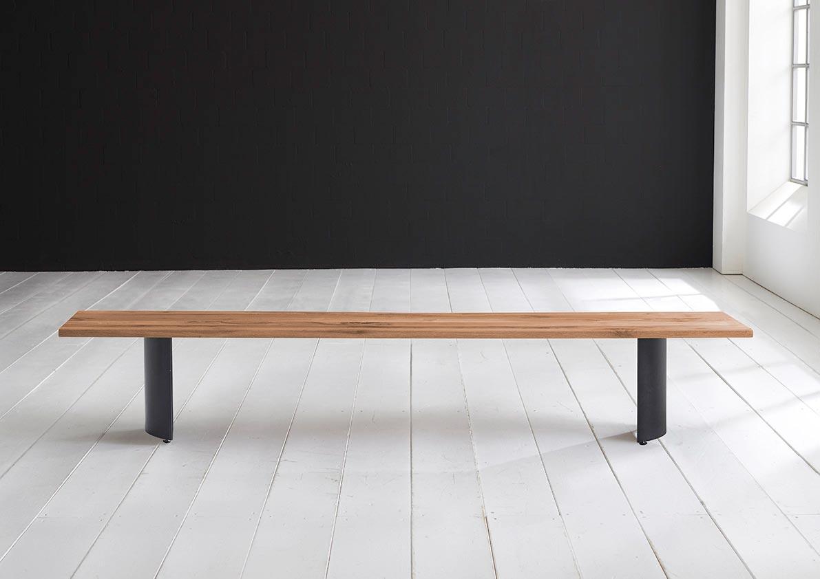 Billede af BODAHL Concept 4 You spisebordsbænk - massiv egetræ m. Arc ben 220 x 40 cm 3 cm 07 = mocca black