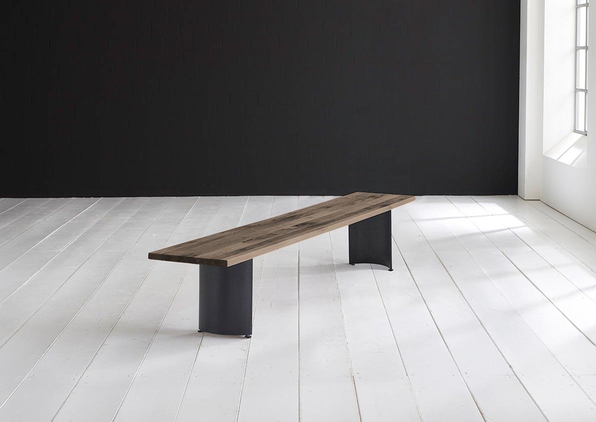 Billede af Concept 4 You Spisebordsbænk - Arc-ben 180 x 40 cm 3 cm 02 = smoked