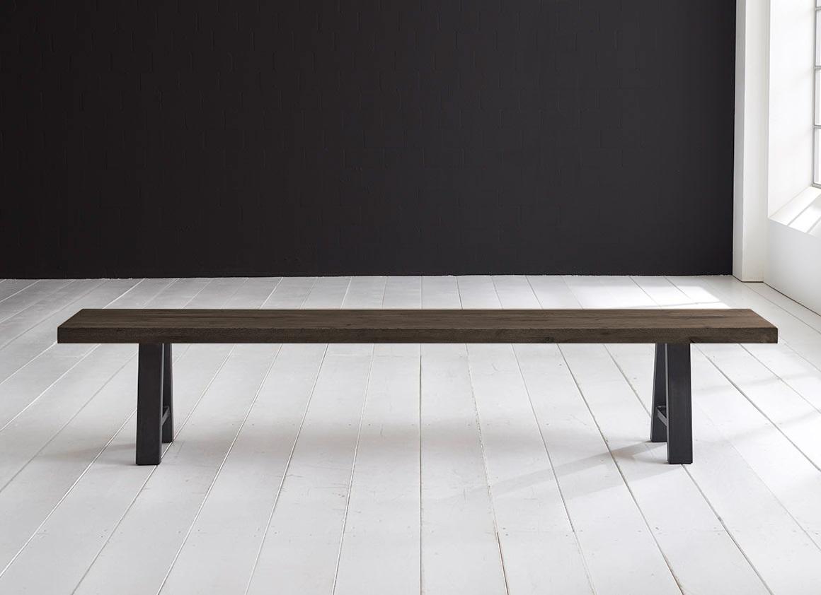 Concept 4 you spisebordsbænk - halo-ben 280 x 40 cm 6 cm 02 = smoked fra bodahl på boboonline.dk