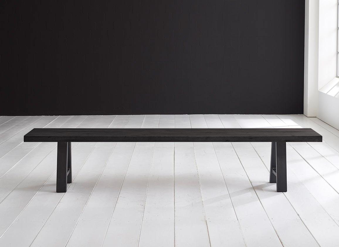 Concept 4 You Spisebordsbænk - Halo-ben 200 x 40 cm 6 cm 07 = mocca black