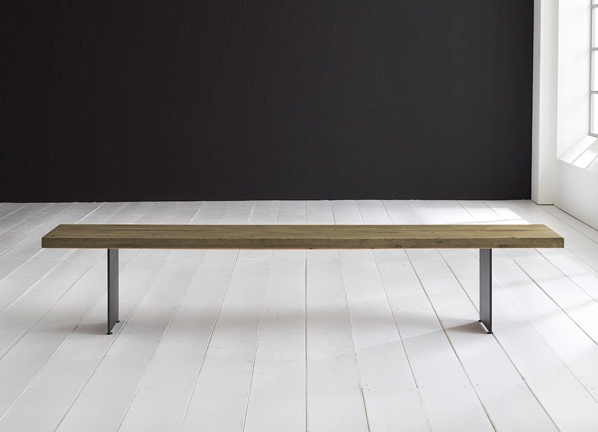 Concept 4 You Spisebordsbænk - Line Ben 240 x 40 cm 6 cm 05 = sand