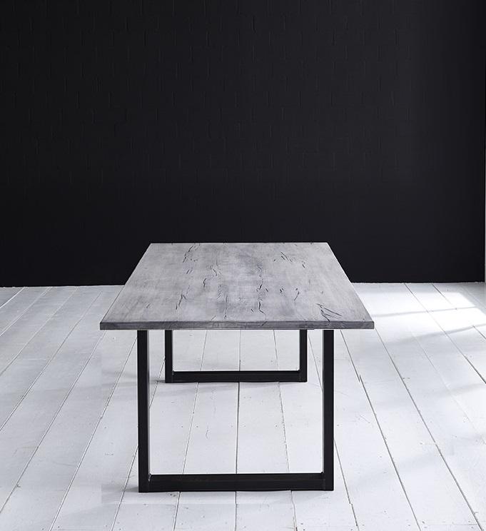 Concept 4 You plankebord - Lige kant Eg med U-ben 3 cm 180 x 100 cm 47 = ice grey