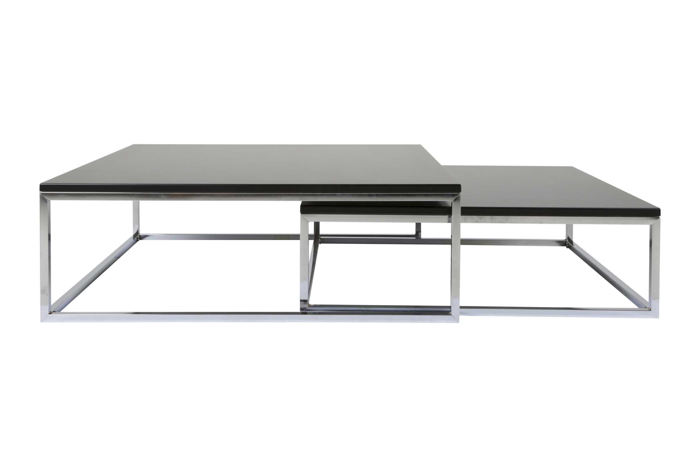 Molly sofabordssæt - sort med sølvben fra canett fra boboonline.dk