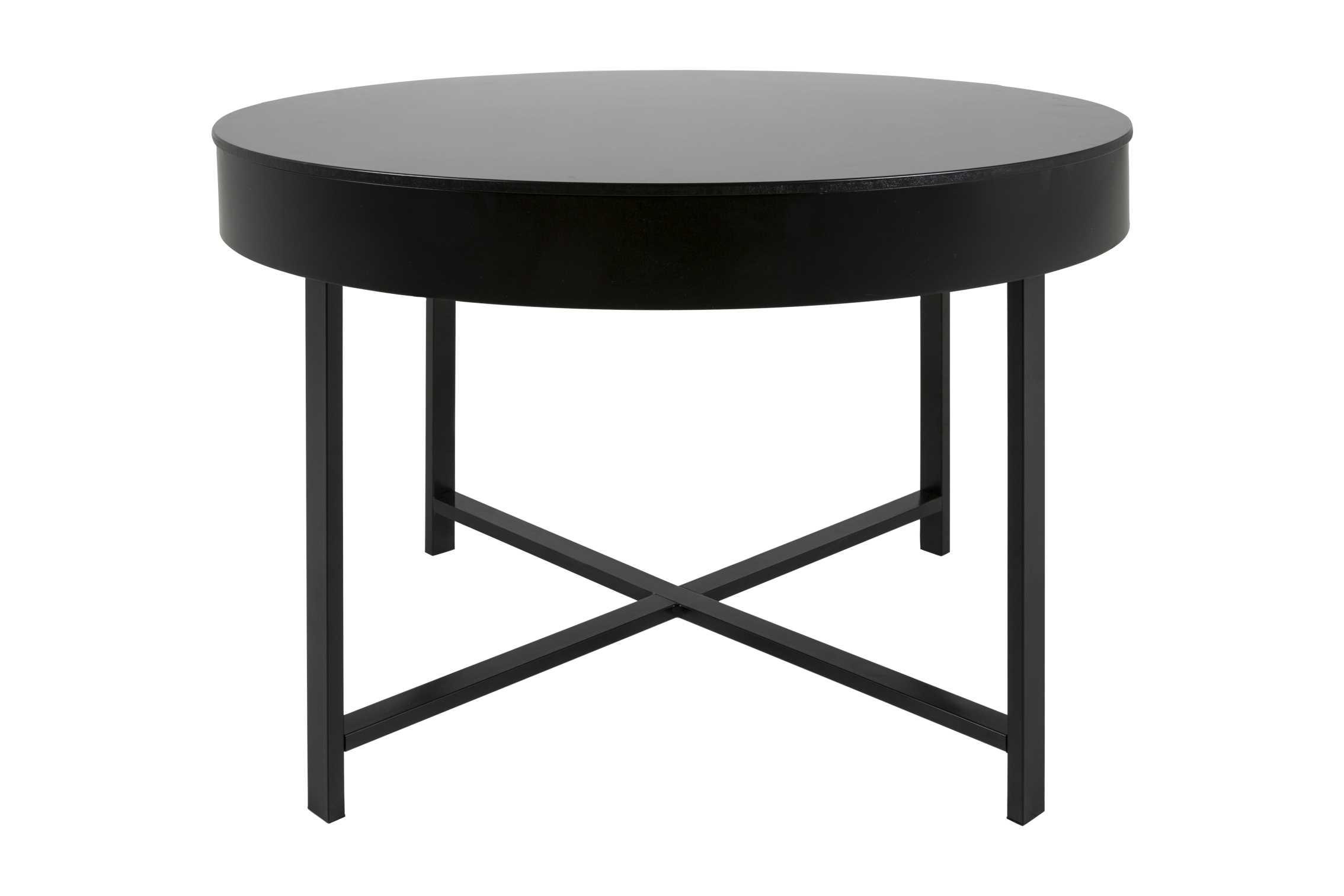 Molly sofabord med aftagelig top - sort fra canett fra boboonline.dk