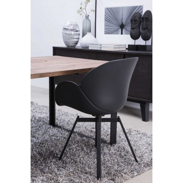 Oliver spisebordsstol m. armlæn i sort