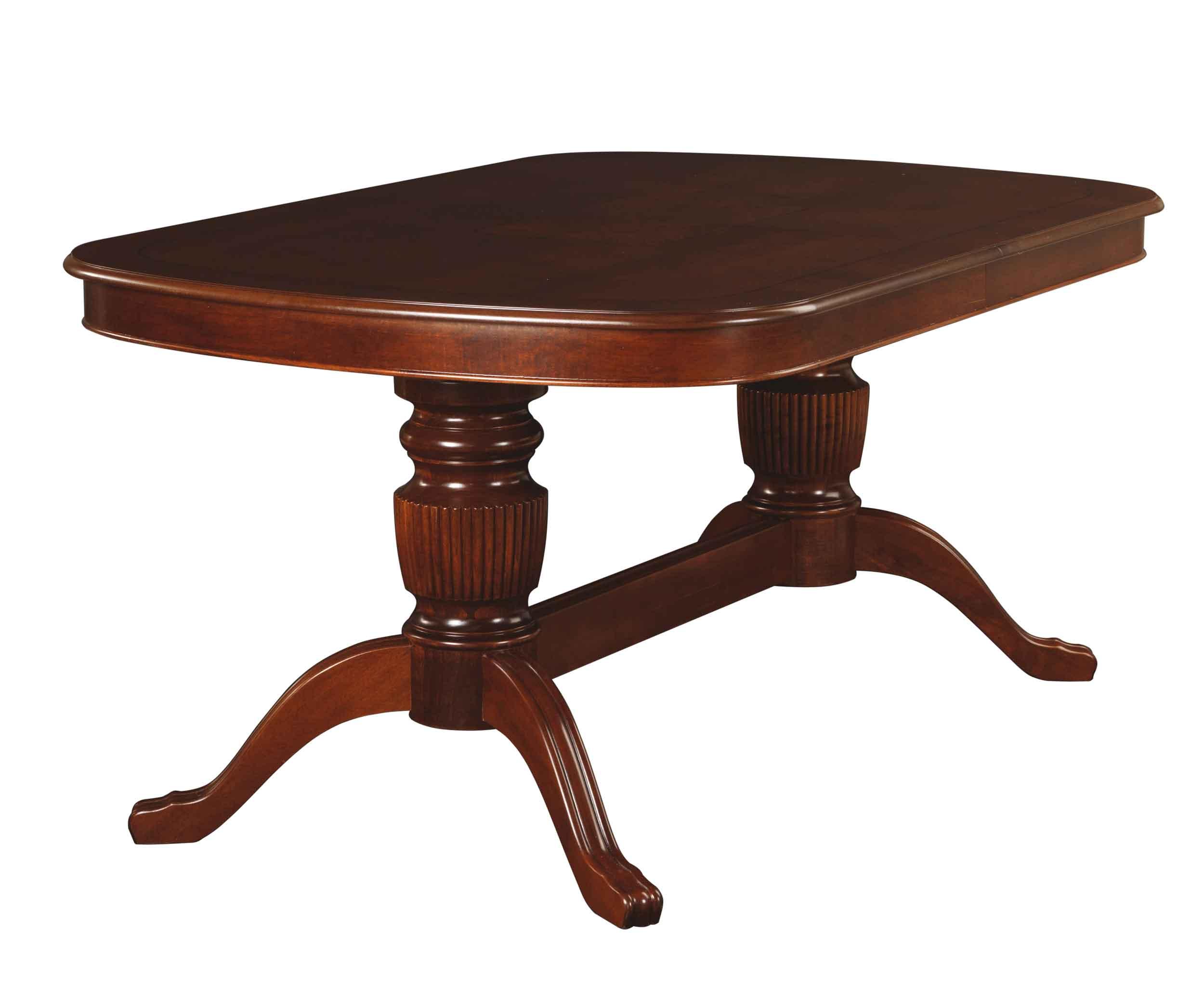 Mozart spisebord - valnøddebrun, oval incl. 2 tillægsplader