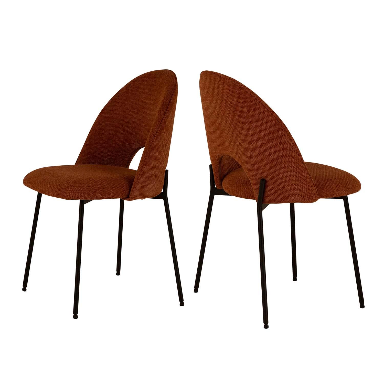 CANETT Dora spisebordsstol - polyester og sort metal thumbnail