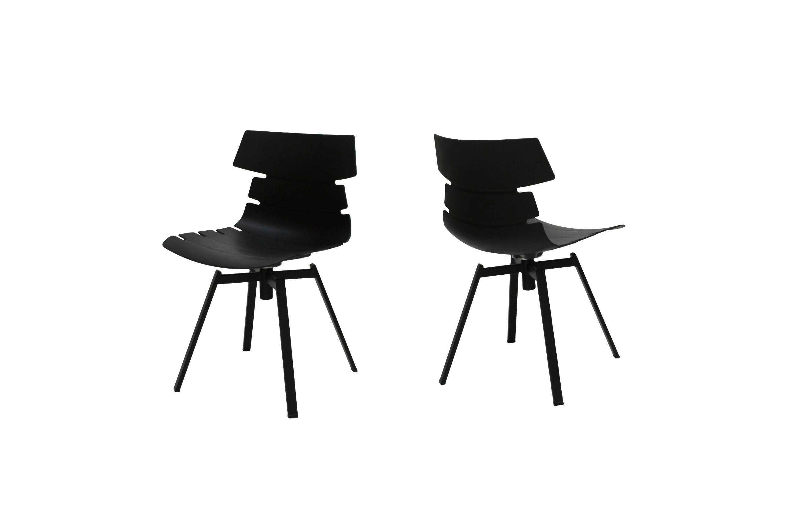 Canett victor spisebordsstol - sort plastik m. sorte metalben fra canett på boboonline.dk