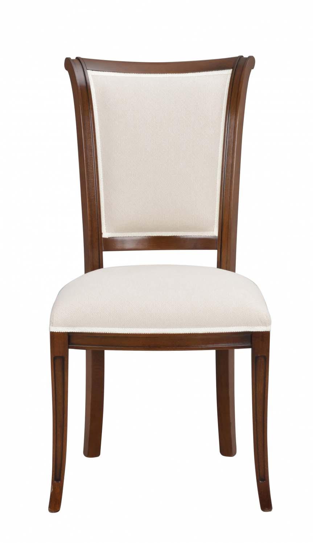 Image of   Amore spisebordsstol - valnød og beige stof