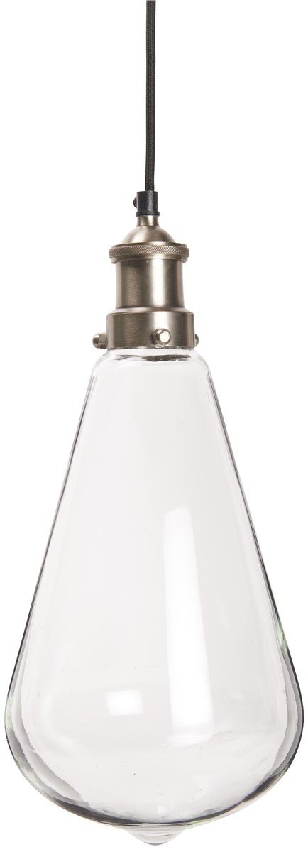 Billede af IB LAURSEN Hængelampe dråbeformet klar glas inkl. loftroset