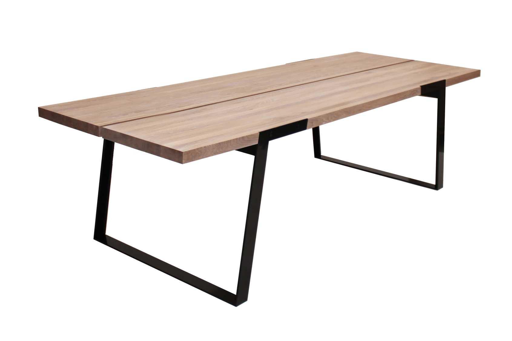 Zilas plankebord - hvidolieret vildeg, m. udtræk (290x100)