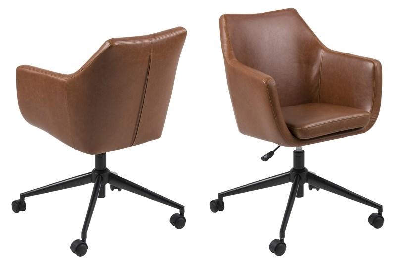Image of   Nora Vintage læder PU skrivebordsstol