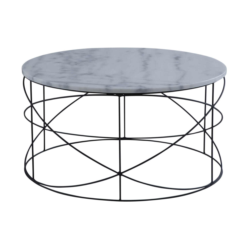 CANETT rund Wire sofabord - marmor og sort jern