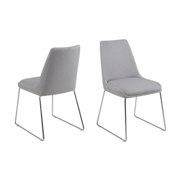 Alison spisebordsstol - Lysegrå