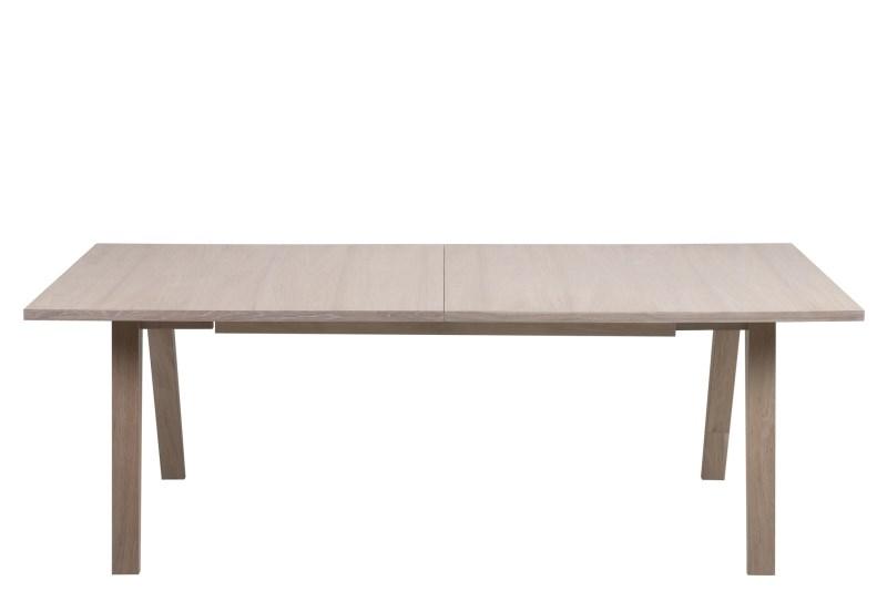 A-Line spisebord - hvidpigmenteret eg, incl. 2 tillægsplader