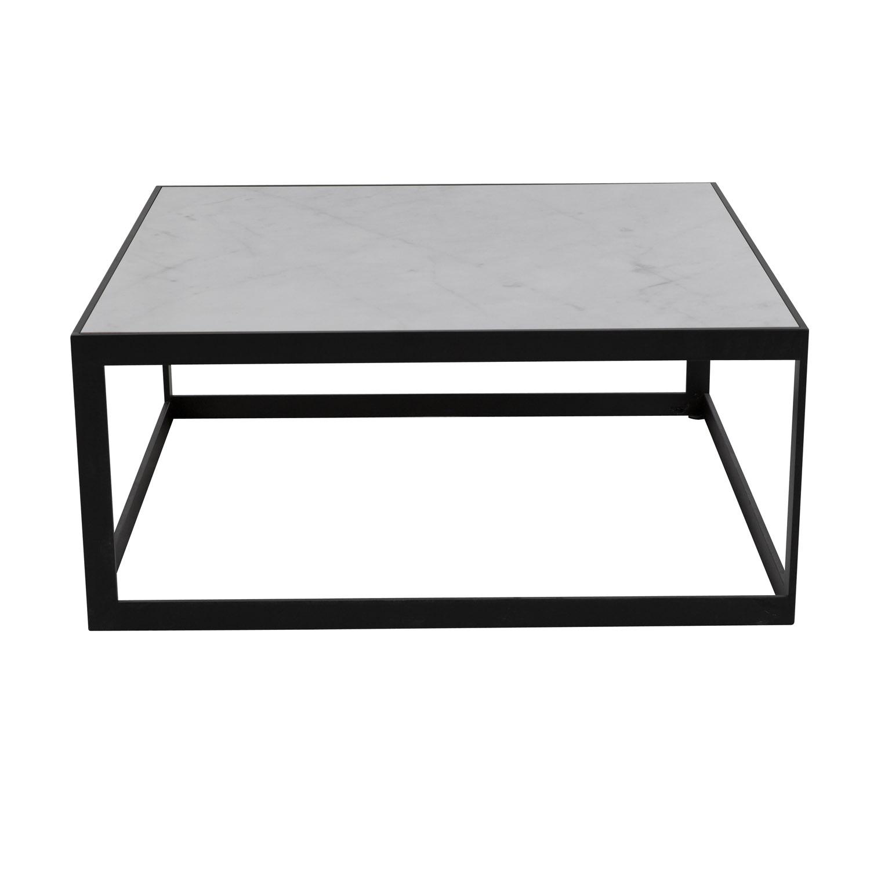 CANETT Stone kvadratisk sofabord - marmor og jern (90x90)