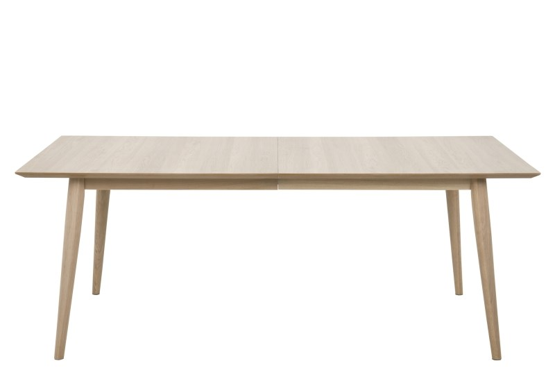 Century spisebord - hvidpigmenteret eg, m. udtræk